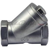 "1/2"" Inline Y type filter strainer stainless steel"