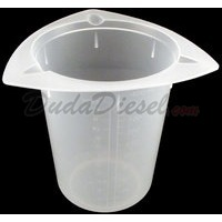 400ml tri-pour chemical resistant polypropylene beaker