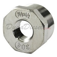 "SS304 Bushing 1-1/4"" Male x 1/2"" Female"