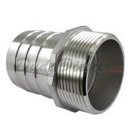 "Hex Male Hose Barb Adapter, 2-1/2"", SUS304"