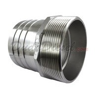 "Hex Male Hose Barb Adapter, 4"", SUS304"