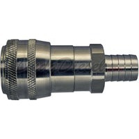 quick disconnect hose barb socket stainless steel