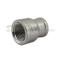 "SS304 Reducing Coupling 3/8"" Female x 1/4"" Female"