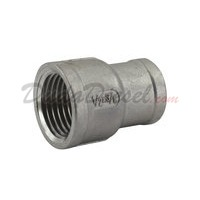 "SS304 Reducing Coupling 1/2"" Female x 3/8"" Female"