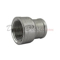 "SS304 Reducing Coupling 1"" Female x 3/4"" Female"