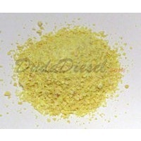 Pure yellow mined sulfur flakes