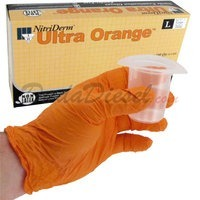 ultra orange nitrile gloves
