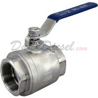 "2"" NPT 2-Piece 304 Stainless Steel Ball Valve WOG1000"