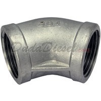"""SS304 45 Degree Elbow 1-1//4/"""" 1.25/"""" Female Fitting 304 Stainless Steel Pipe NPT"""