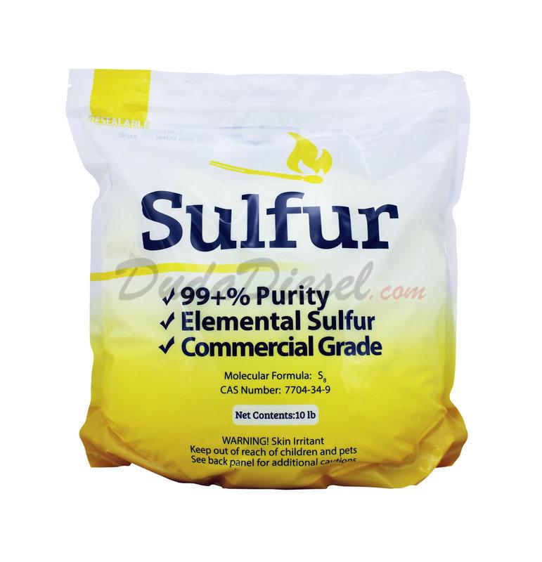 Sulfur Powder, 10 lb [sulfur10] | DudaDiesel Biodiesel Supplies
