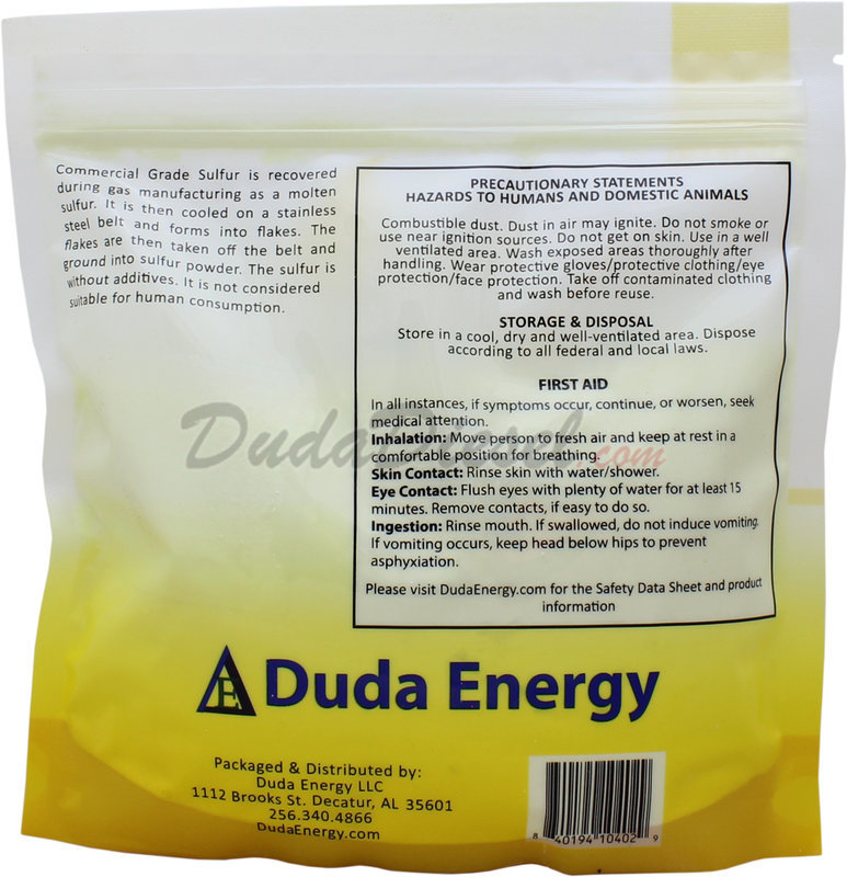 Sulfur Powder, 1 lb [sulfur1] | DudaDiesel Biodiesel Supplies